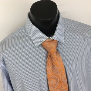 Ted Baker Endurance Dress Shirt Striped blue 17.5
